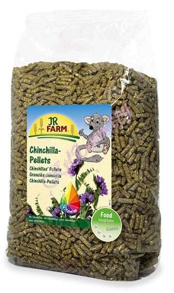 Основной корм для шиншилл в пелеттах JR Chinchilla Pellets