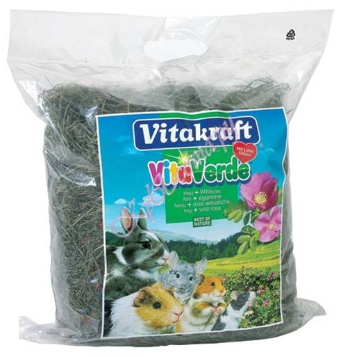 Vita Verde Rose VITAKRAFT сено с лепестками роз