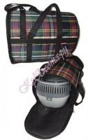 Если сильные морозы, то под дно переноски (в сумку) можно положить...