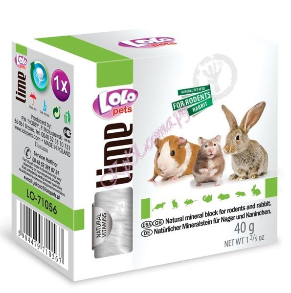 Lolo Pets Mineral block for rodents- Natural
