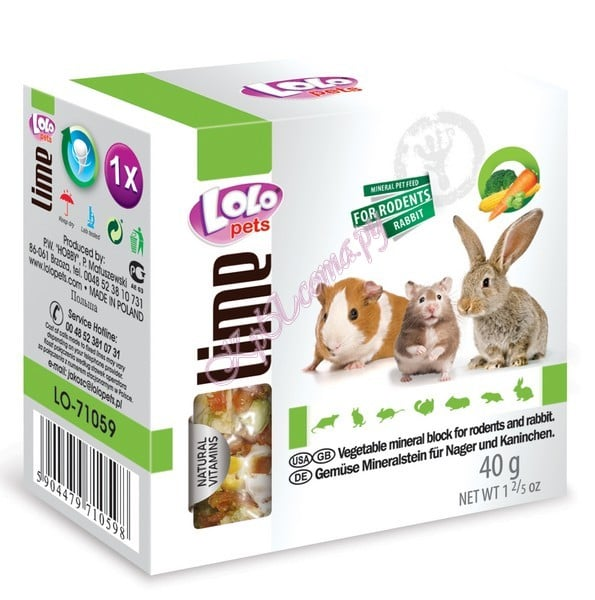 LoLo Pets Mineral block for rodents- Vegetables