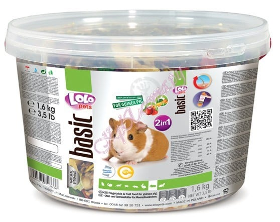 Lolo Pets Vegetable and Fruit Guinea Pig Bucket