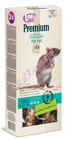 Smakers Премиум для крыс Lolo Pets Smakers Premium for Rat 100 г.