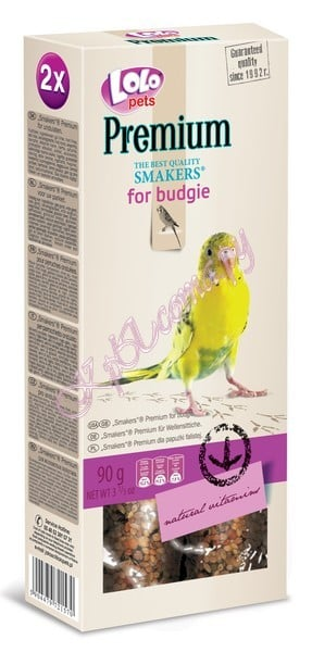 Smakers Премиум для волнистых попугаев Lolo Pets Smakers Premium for Budgie 100 г.