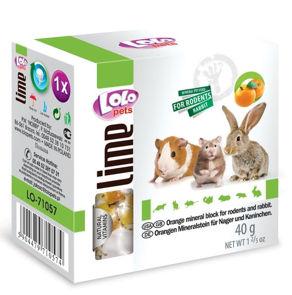 LoLo Pets Mineral block for rodents- Orange