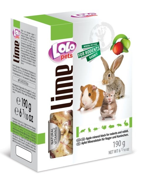 LoLo Pets Mineral block for rodents- Apple XL
