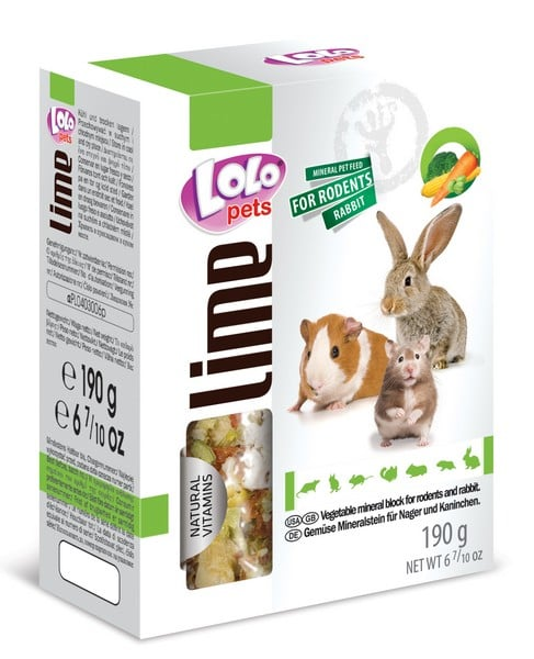 LoLo Pets Mineral block for rodents - Vegetable XL