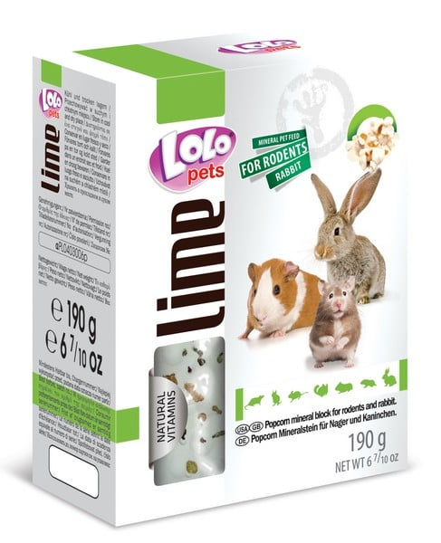 LoLo Pets Mineral block for rodents- Popcorn XL