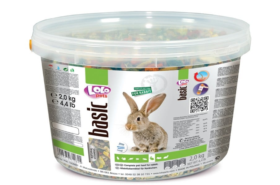 Lolo Pets Food Complete Rabbit Bucket