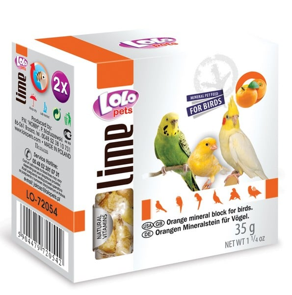 LoLo Pets Mineral block for birds- Orange