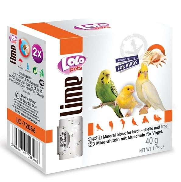 LoLo Pets Mineral block for birds- Shells