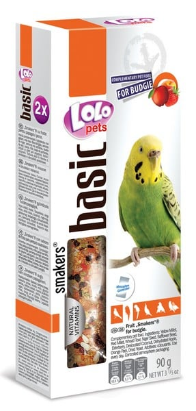 Lolo Pets Smakers с фруктами Budgies
