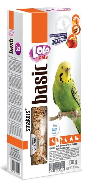 Lolo Pets Smakers Budgies Mix 3 in 1