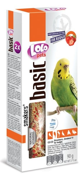 Lolo Pets Smakers Budgies Strawberry