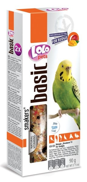 Lolo Pets Smakers с манго Budgies