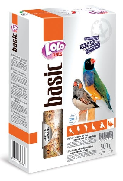LoLo Pets Zebra Finch Exotic Birds Food Complete