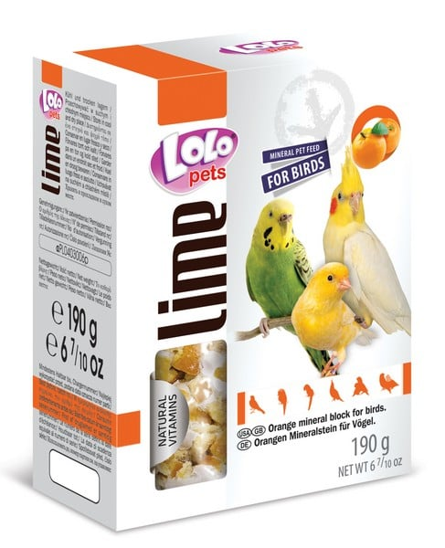 LoLo Pets Mineral block for birds- Orange XL