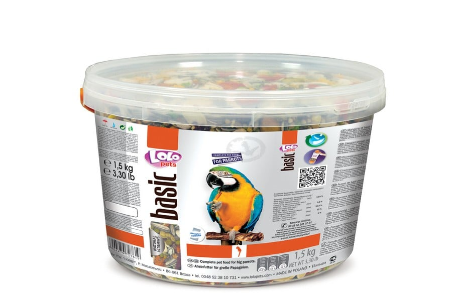 LoLo Pets Parrots Food Complete Bucket