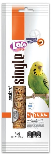 Lolo Pets Smakers Weekend Style медовый Budgies