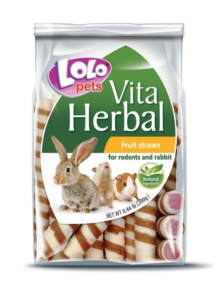 Lolo Pets Herbal Fruit Straws